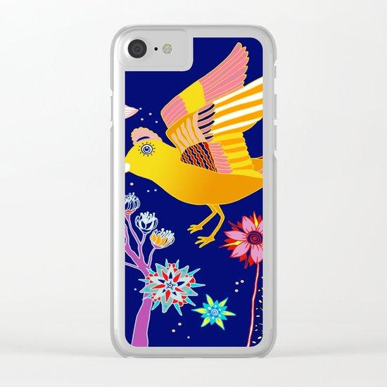 dreamy flora Clear iPhone Case