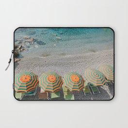 Umbrellas on the beach Laptop Sleeve