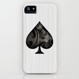 Steampunk Ace - Spade iPhone Case
