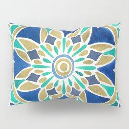 Mandala – Gold & Turquoise Pillow Sham