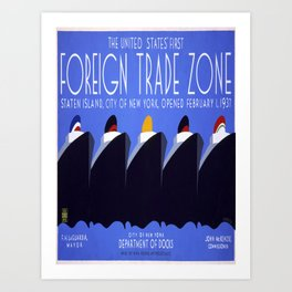 Vintage poster - Staten Island Art Print