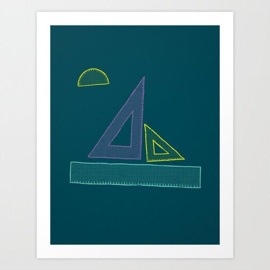 Sailing Rules Art Print