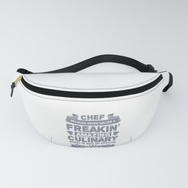 Chef Because Freakin Amazing Culinary Beast Not a Job Title Fanny Pack