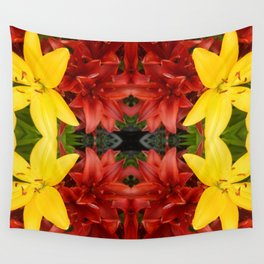 """""""A Gathering of Lilies"""" Remix - 3 (1-1) [D4468~49] Wall Tapestry"""