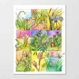 Animals Hiding Canvas Print