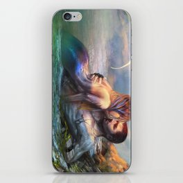 Take my breath away - Mermaid in love with soldier on the beach iPhone Skin
