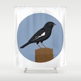 Lark Bunting Shower Curtain