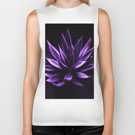 Succulent Plant In Purple Color #decor #society6 #homedecor Biker Tank