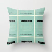 politics Throw Pillows featuring Politics by politics
