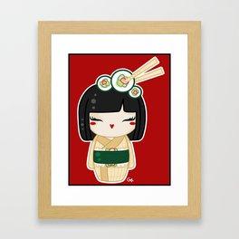 California Roll Kokeshi Framed Art Print