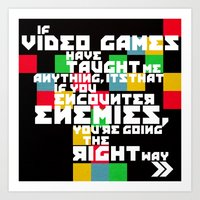 video games Art Prints featuring Video Games by Divya Tak
