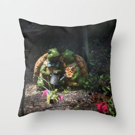 Together through thick and thin Throw Pillow