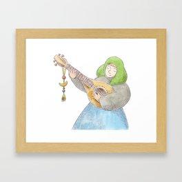 Girl with a Mandolin Framed Art Print