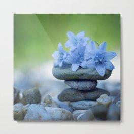 Zen Flowers. Metal Print