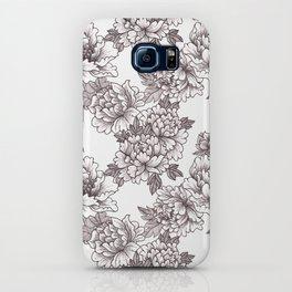 Peony Pattern iPhone Case