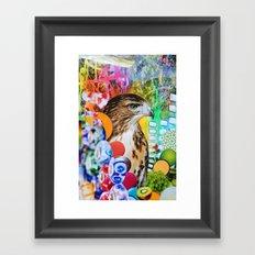 Psychedelic Hawk Framed Art Print