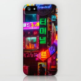 Older Neon Lights iPhone Case