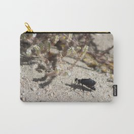 Closeup Black Blister Beetle... 2 Carry-All Pouch