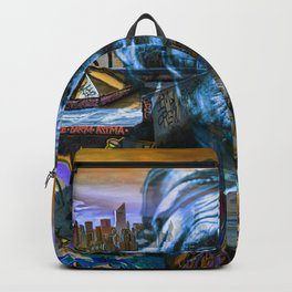 Ghost Tribe Native Americans in New York Blue Backpack