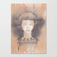 lucy Canvas Prints featuring Lucy by Shiro