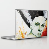 bride Laptop & iPad Skins featuring The Bride by Beth Michele