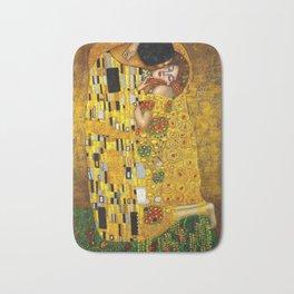 The Kiss Painting Gustav Klimt Bath Mat