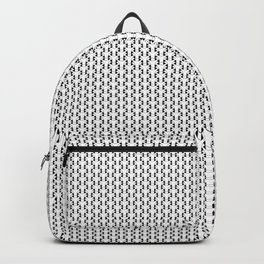 Black and White Basket Weave Shape Pattern 2 - Graphic Design Backpack