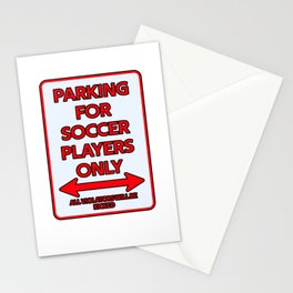 Footballer Parking sign gift Stationery Cards