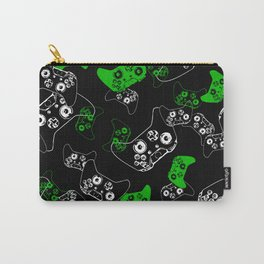 Video Game Black & Green Carry-All Pouch