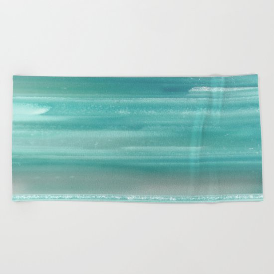 Turquoise Geode Beach Towel