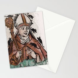 Archbishop Hatto eaten alive by mice in 974 A.D. Stationery Cards