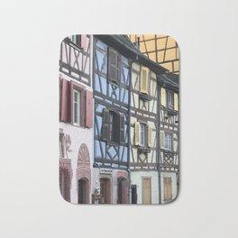 Colmar pastel houses Bath Mat