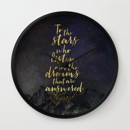 To the stars who listen...A Court of Mist and Fury (ACOMAF) Wall Clock