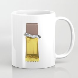 Chocolate candy bar in gold wrapper Coffee Mug