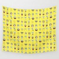 spongebob Wall Tapestries featuring spongebob  , spongebob  games, spongebob  blanket, spongebob  duvet cover by ira gora