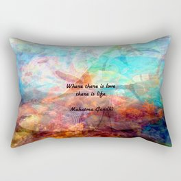 Gandhi Inspirational Quote about Love, Life & Hope Rectangular Pillow