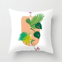 Jungle Bloom Throw Pillow