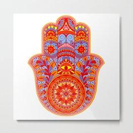 Hamsa Hand Metal Print
