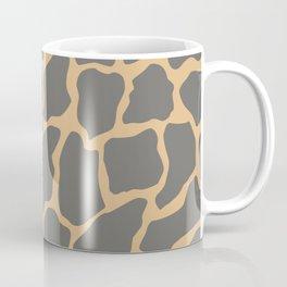Safari Giraffe Print - Gray & Beige Coffee Mug