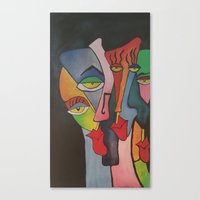 faces Canvas Prints featuring faces by loomy