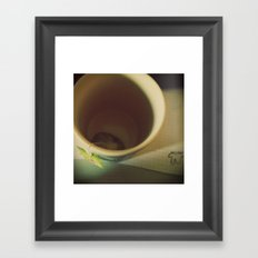 The infinite sadness of the empty cup of tea, 1 Framed Art Print