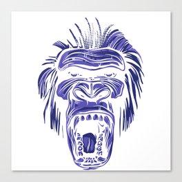GORILLA KING KONG - Blue Canvas Print
