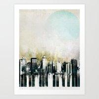 Music of The City Art Print
