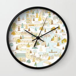 Over the River and Through the Woods Wall Clock