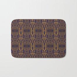 Kabel Type Portrait Purple Bath Mat