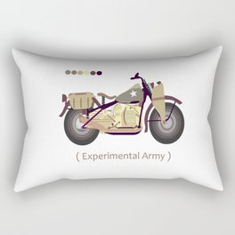 oldskull motorcycle Rectangular Pillow