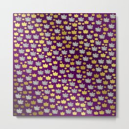 gold,silver,purple,maple, leaf, canadian, canada, symbol, design, background, fall, element, tree, c Metal Print