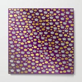 gold,silver,purple,maple, leaf, canadian, canada, symbol, design, background, fall, element, tree, c Metal Print