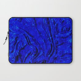 Blue Indigo Glowing Painting Moroccan Texture Style. Laptop Sleeve