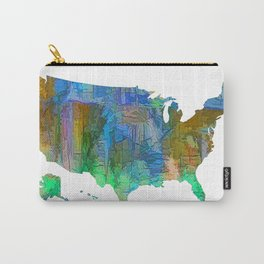 Usa Colorful Map Carry-All Pouch